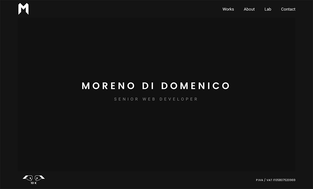 MorenoDD | Senior Web Developer website
