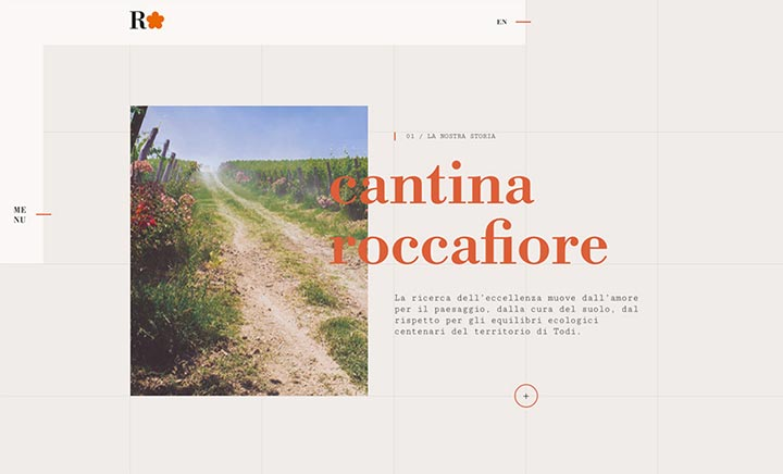 Roccafiore Wines website