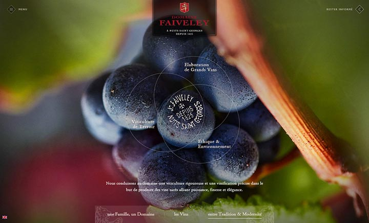 Domaine Faiveley website