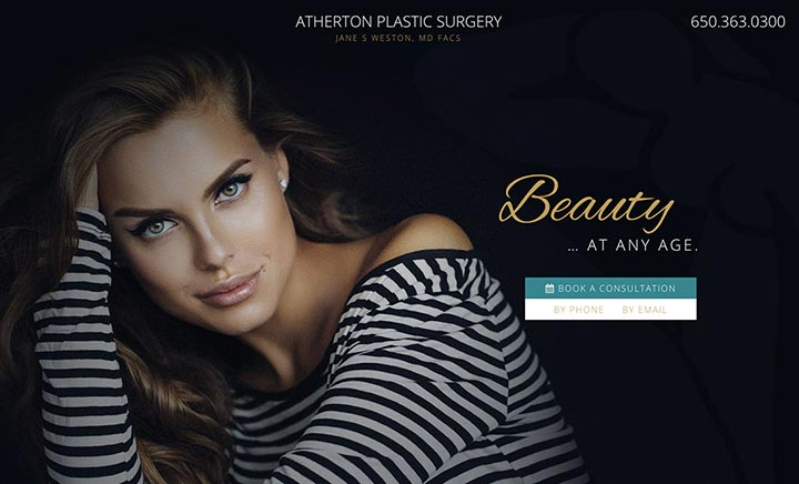 Atherton Plastic Surgery website