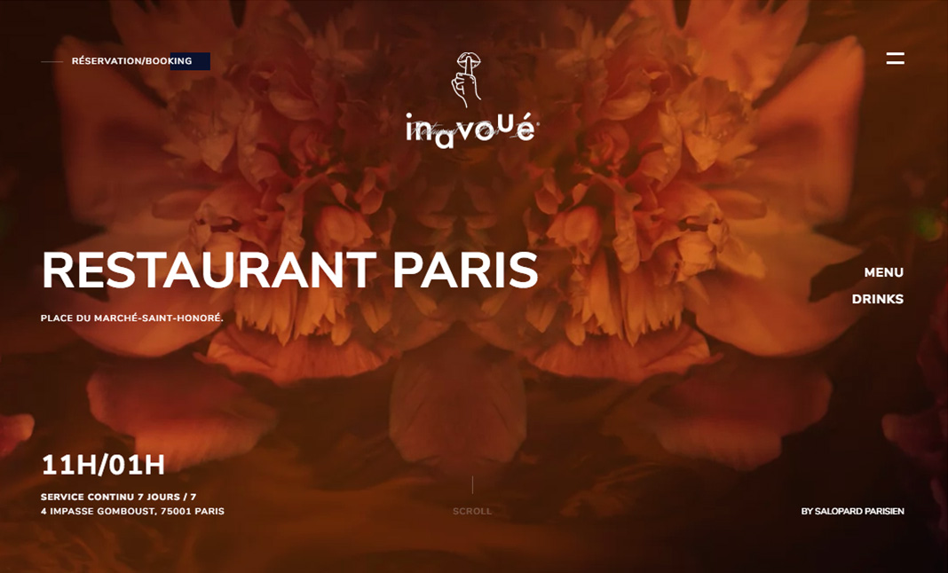 inavoué restaurant website