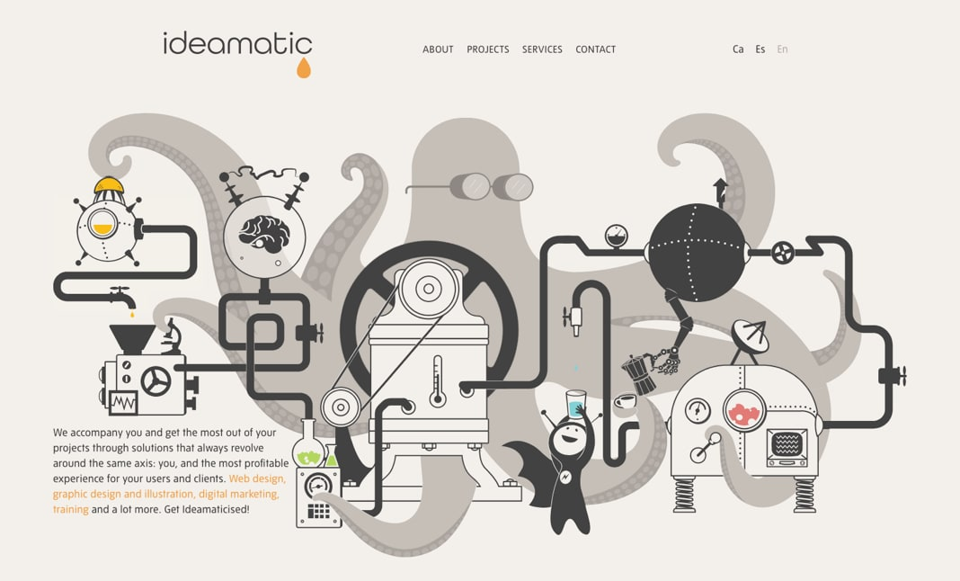 Ideamatic Digital Experiences website
