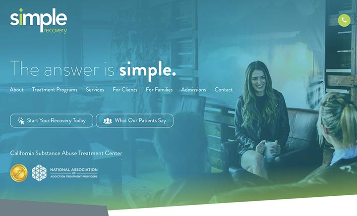 Simple Recovery website