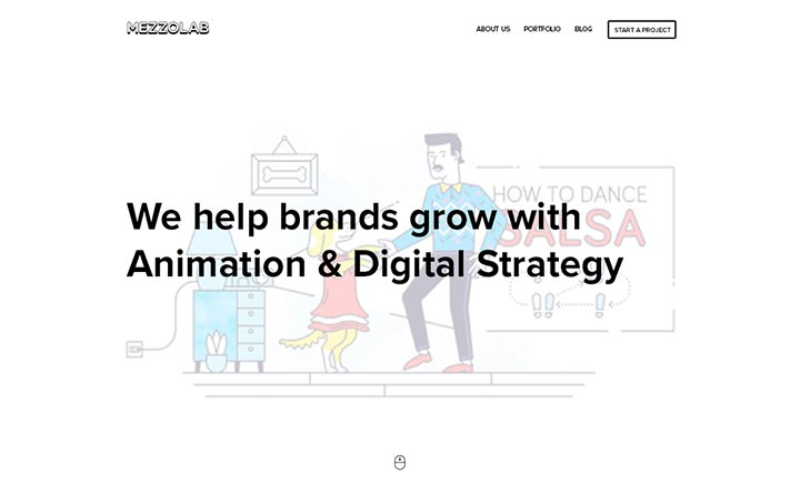 MezzoLab - Remote Digital Agency website