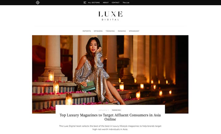 Luxe Digital website
