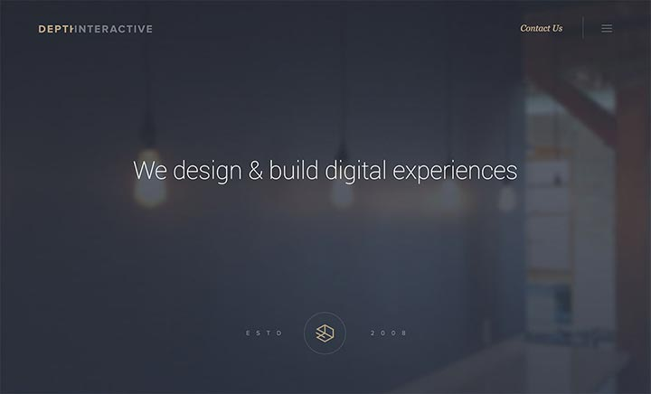 Depth Interactive website