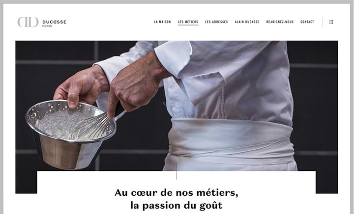 DUCASSE Paris website