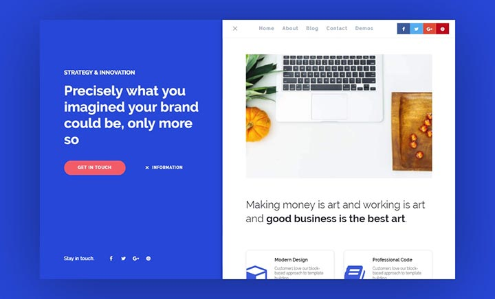 Deft One Page WordPress Theme