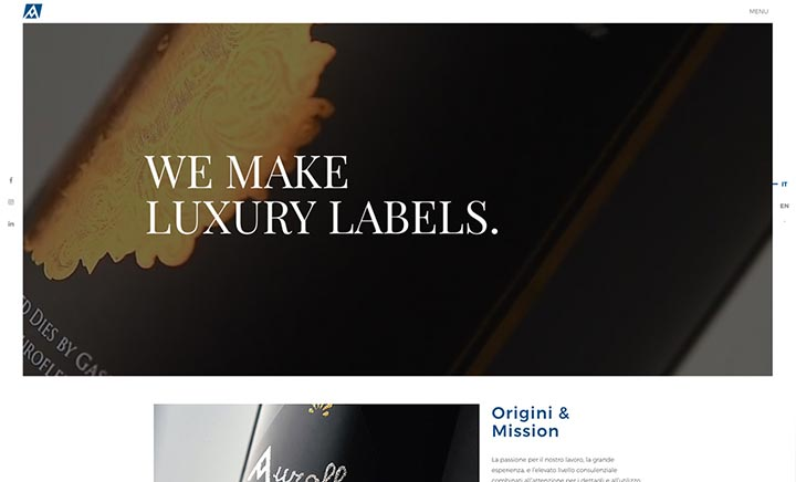 Auroflex Luxury Labels website