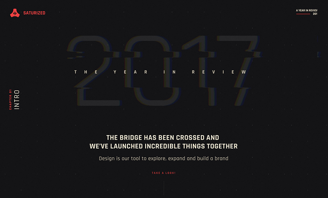 Saturized — Year in Review 2017 website