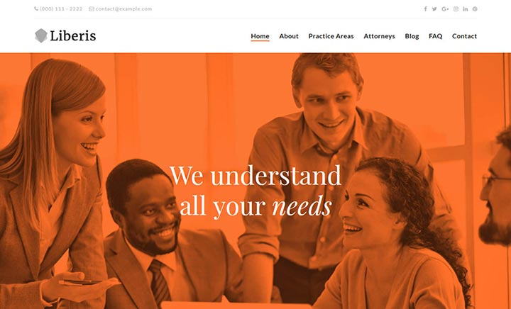 Liberis Attorney WordPress Theme