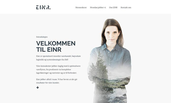 Einr AS website