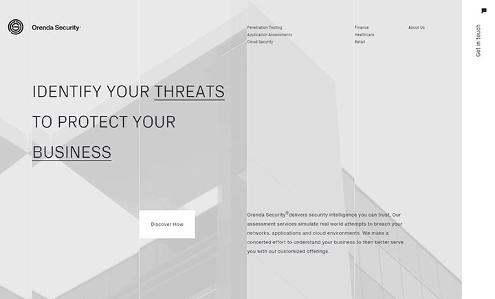 Orenda Security website