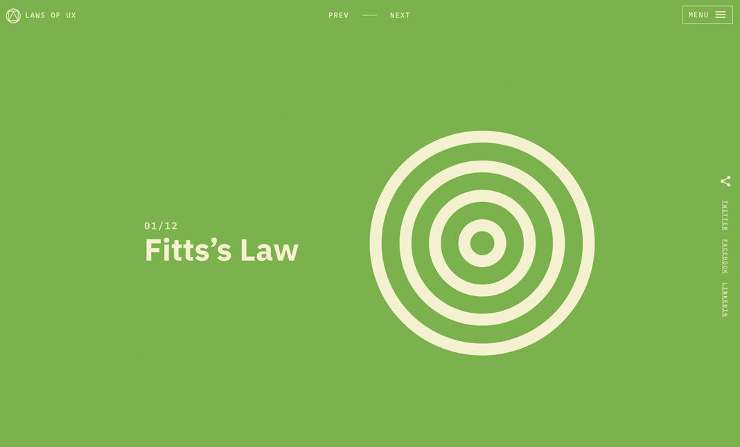 Laws of UX screenshot 2