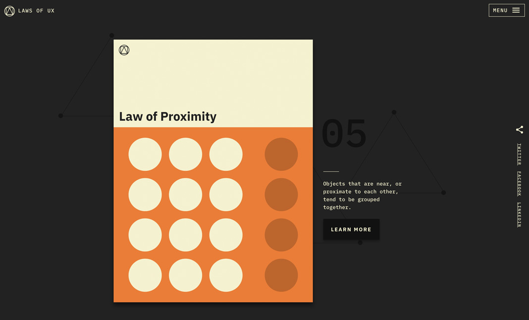 Laws of UX screenshot 3