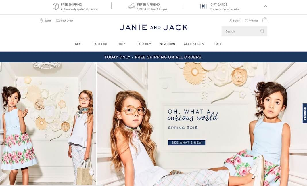 Janie and Jack website