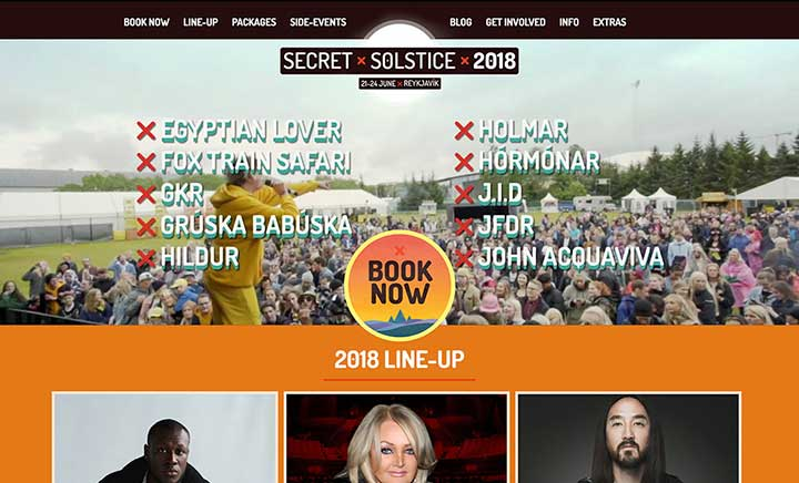 Secret Solstice Festival website