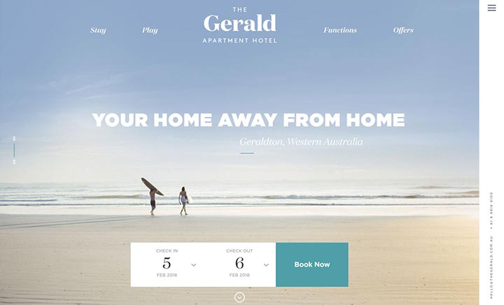 The Gerald website