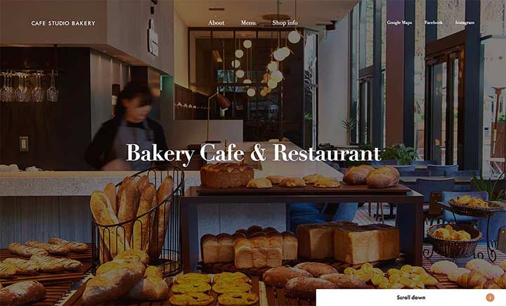 CAFE STUDIO BAKERY website