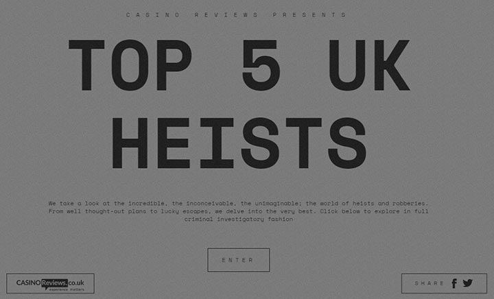 Top 5 Heists in the UK's History website