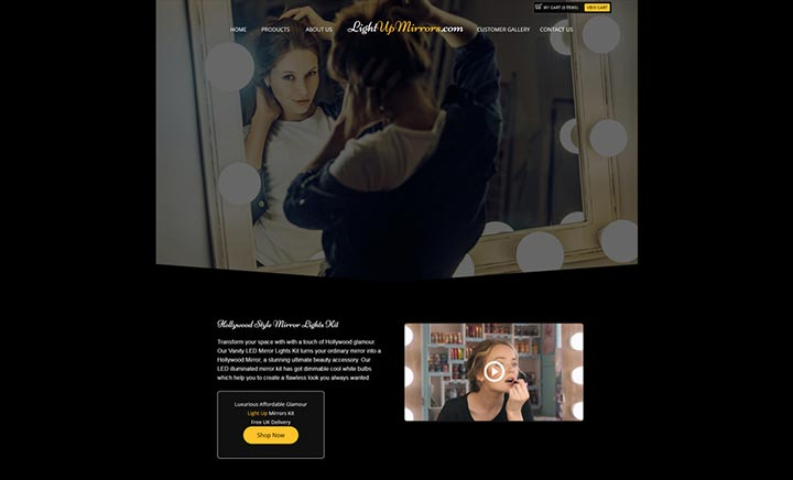 Light Up Mirrors website