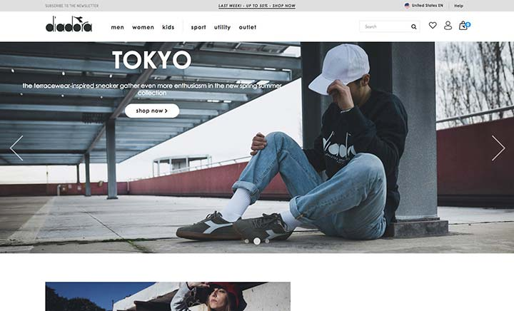 Diadora website
