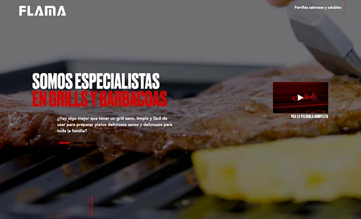 Chakall Grill by Flama website