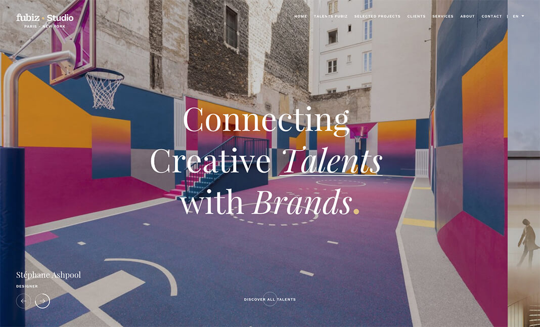 Fubiz Studio website