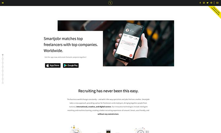 Smartjobr - Freelance App website