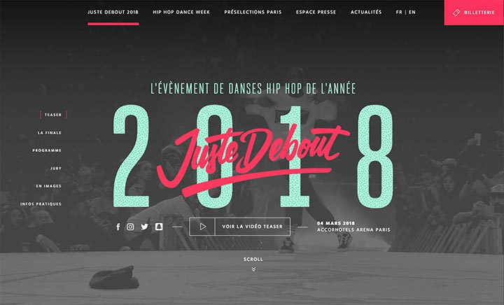 Juste Debout website
