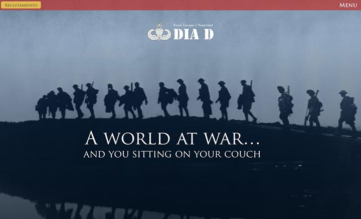 D-Day Room Escape website