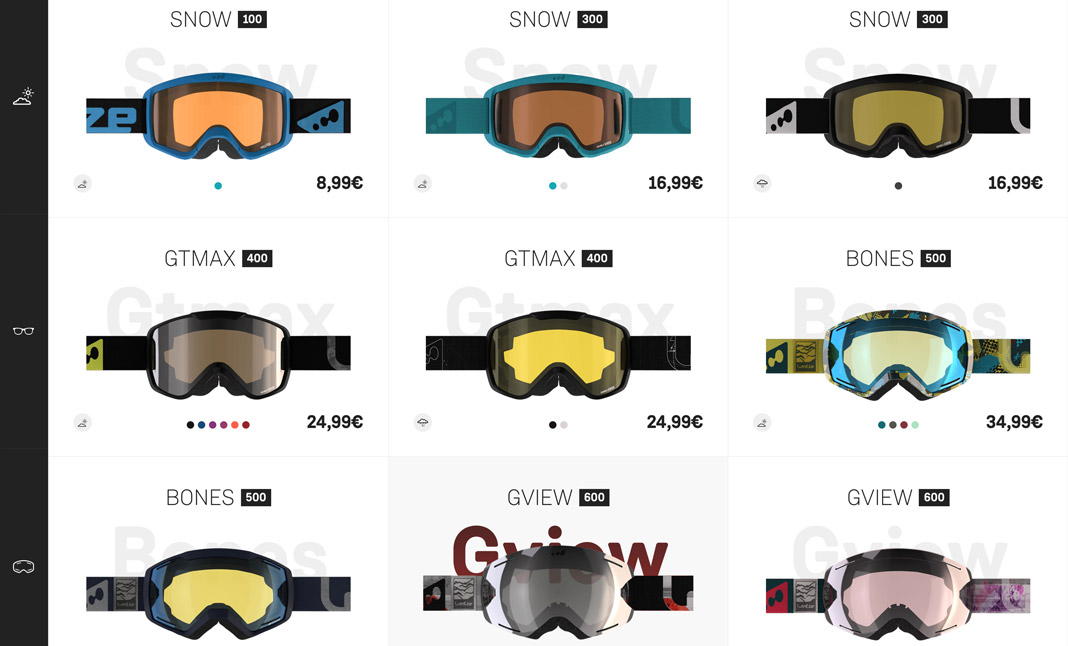 Wed'ze Ski Goggles Collection screenshot 2