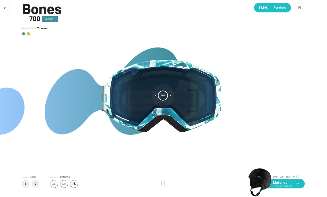 Wed'ze Ski Goggles Collection screenshot 3