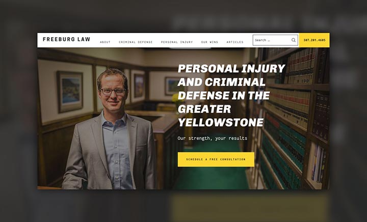 Freeburg Law website