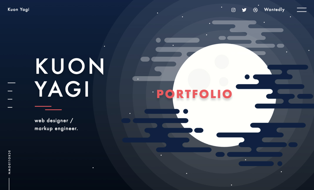 Kuon Yagi Portfolio website