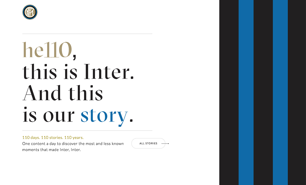 He110, this is Inter website