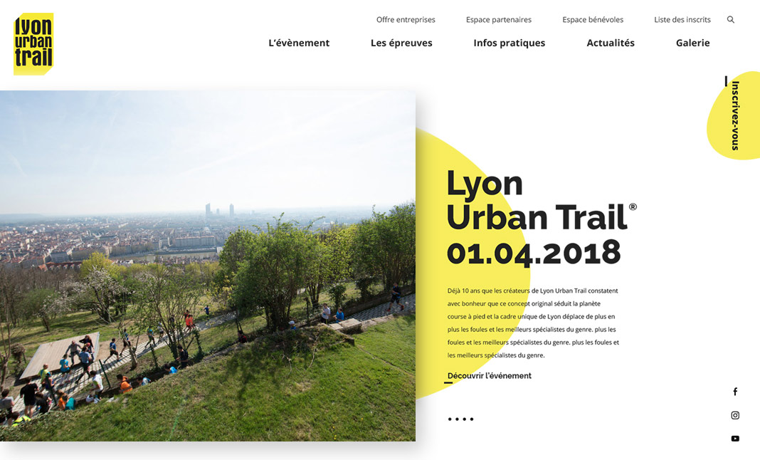Lyon Urban Trail website