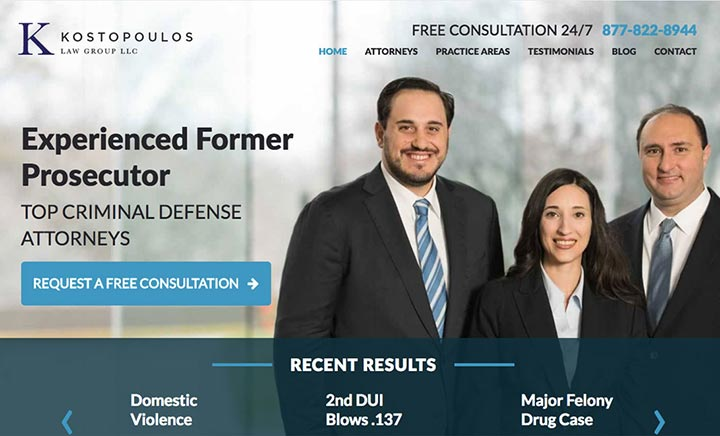 Kostopoulos Law Group website
