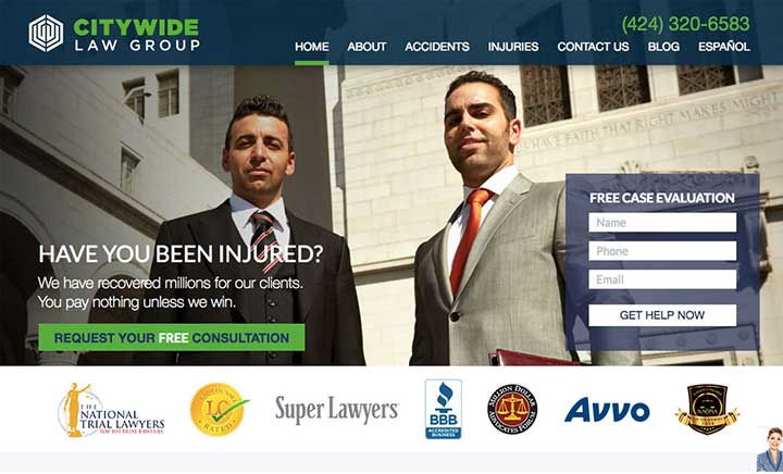 Citywide Law Group website