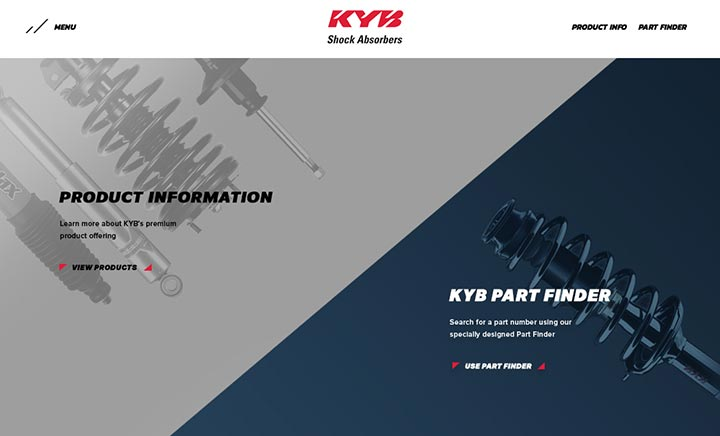 KYB Shock Absorbers website