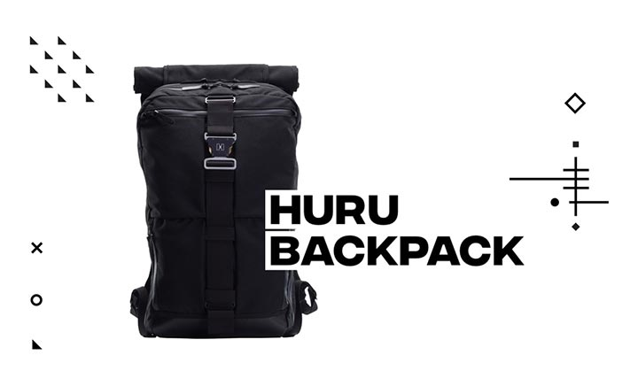 Huru Backpack website