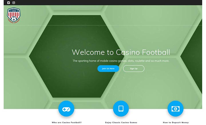Casino Football website