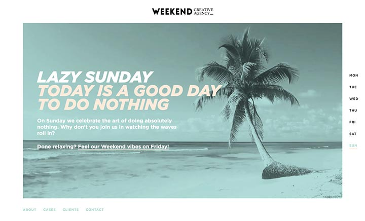 Weekend Creative Agency website