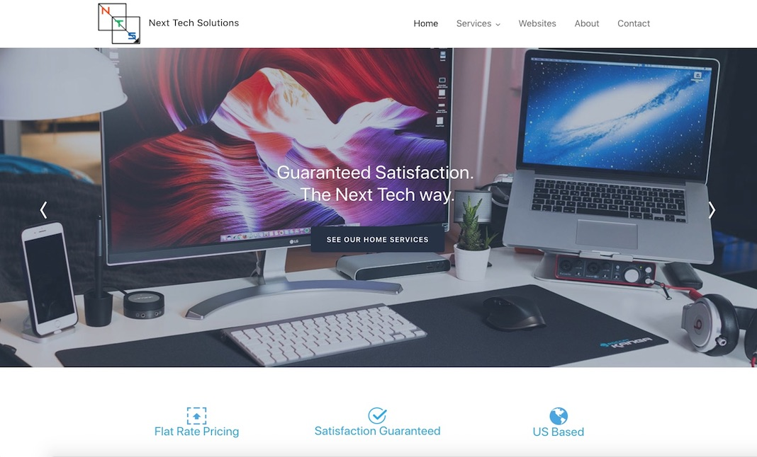 Next Tech Solutions website