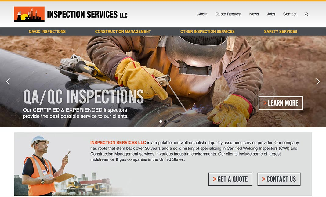 Inspection Services LLC website