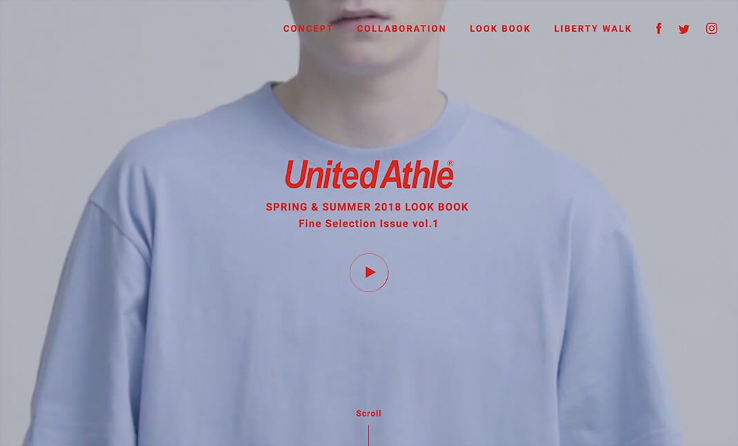United Athle Look Book SS 2018 website