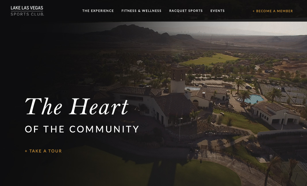 Lake Las Vegas Sports Club website