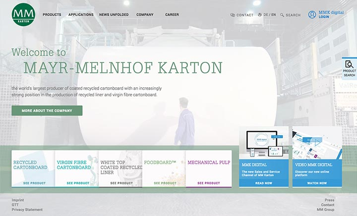 Mayr-Melnhof Karton website