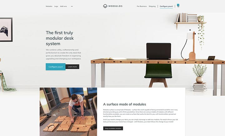 Modulos | A fully modular desk website