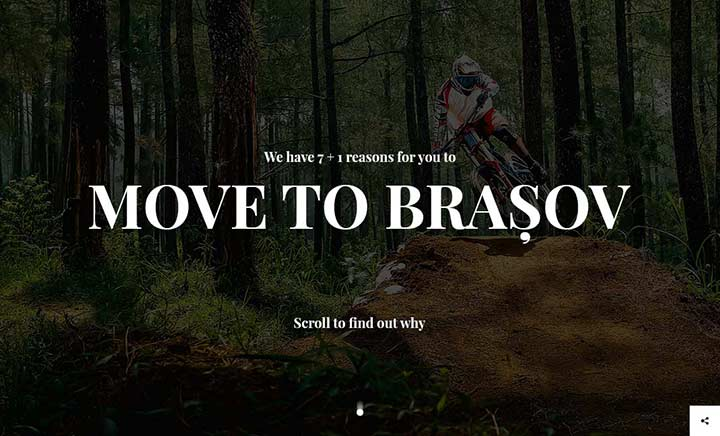 Move to Brasov website